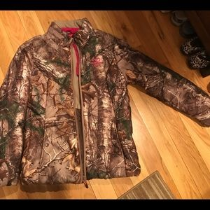 Real tree pink accent jacket